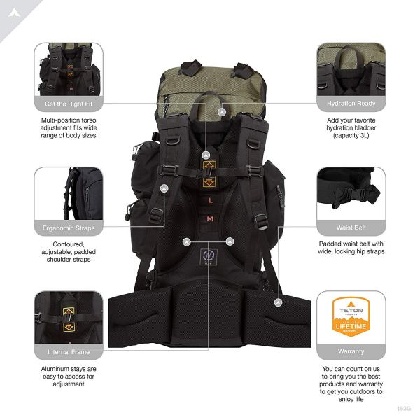 TETON Sports Explorer 4000 Internal Frame BackpackTETON Sports Explorer 4000 Internal Frame BackpackTETON Sports Explorer 4000 Internal Frame Backpack