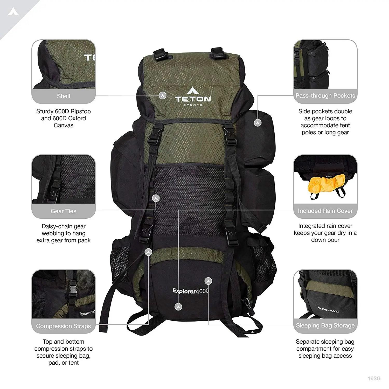 TETON Sports Explorer 4000 Internal Frame Backpack  a6dadc7881024
