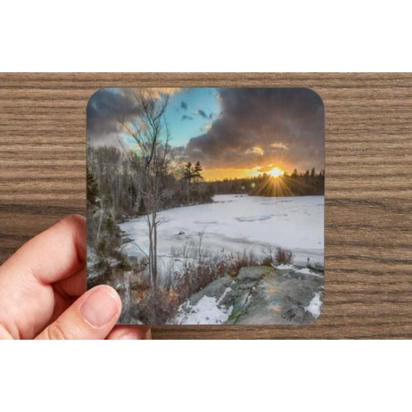 long lake provincial park halifax nova scotia photo sunset drink coasters