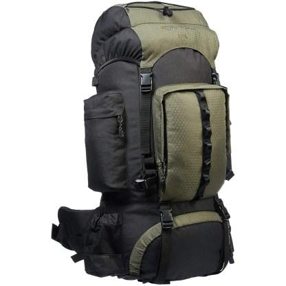 AmazonBasics Internal Frame 55L Hiking Backpack with Rainfly