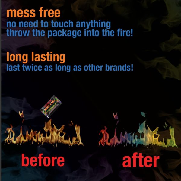 Magical Flames: Creates Vibrant, Colorful Flames for Wood Burning Fires! (12)