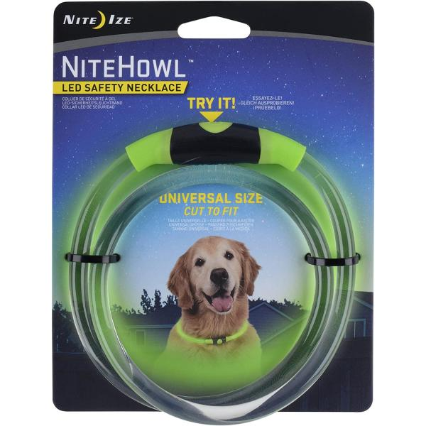 Nite Ize NiteHowl LED Dog Light Collar Safety Necklace collar