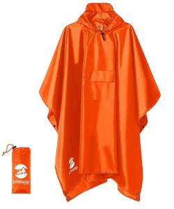 waterproof lightweight packable rain poncho