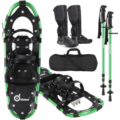 SNOWTREK Aluminum Snowshoes for Kids, Youth and Adults with Carrying Bag