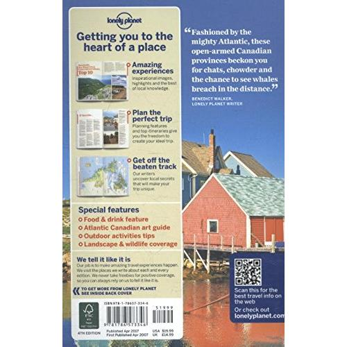 Lonely Planet Nova Scotia, New Brunswick & Prince Edward Island 4th Ed.: 5th Edition (Paperback)