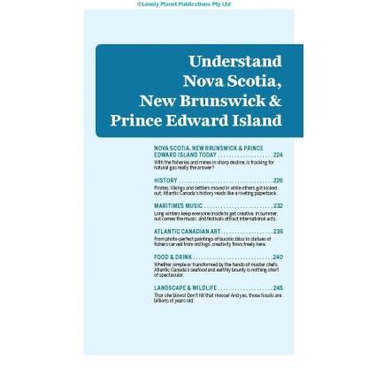 Lonely Planet Nova Scotia, New Brunswick & Prince Edward Island 4th Ed.: 5th Edition (Paperback)