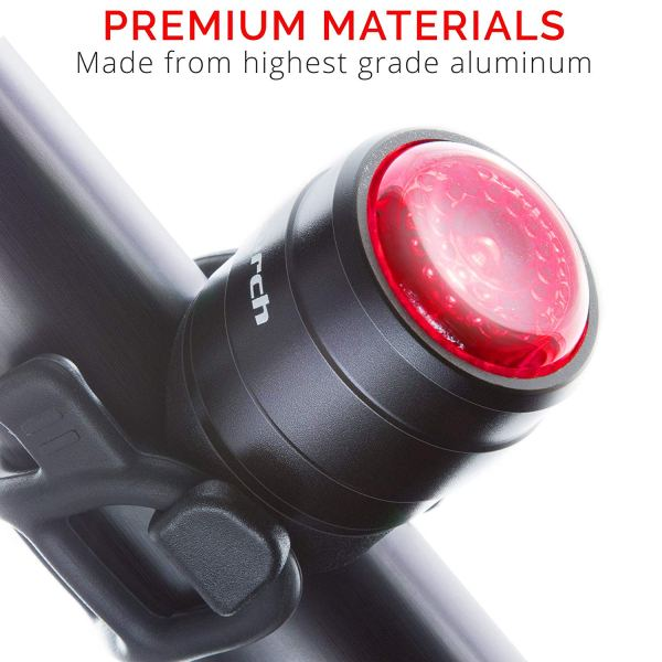 Cycle Torch Light Bolt - USB Rechargeable Bike Tail Light, RED Rear Bicycle Light LED