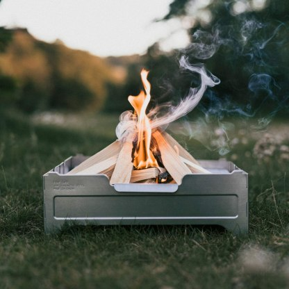 WOLF GRIZZLY Fire Safe; A Portable, Foldable Fire Pit for Outside Cooking and Bonfires
