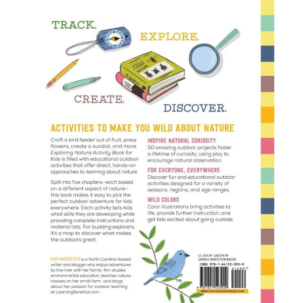Exploring Nature Activity Book for Kids: 50 Creative Projects to Spark Curiosity in the Outdoors Paperback