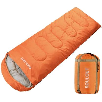 Envelope Sleeping Bag 3-4 Seasons Warm Cold Weather Lightweight, Portable, Waterproof with Compression Sack for Adults & Kids - Indoor & Outdoor Activities: Traveling, Camping, Backpacking, Hiking
