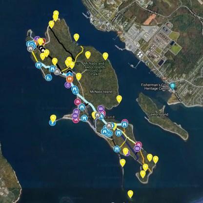 McNabs Island GPS Map