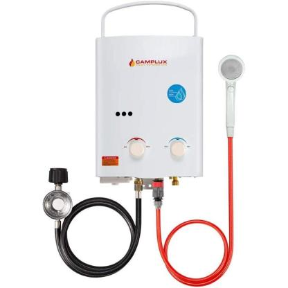 Camplux 5L Outdoor Portable Water Heater,1.32 GPM Tankless Propane Gas Water Heater