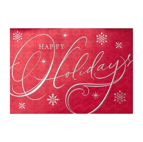 Hallmark business connections holiday cards mamiihondenk red silver foil happy holidays greeting cards hallmark business reheart Image collections