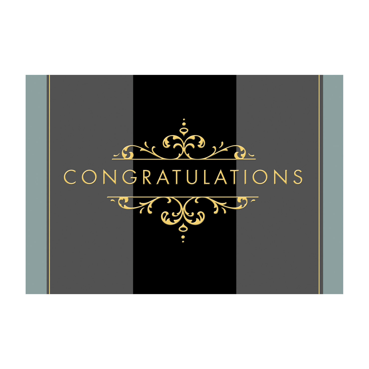 Golden Congratulations Cards For Business Amp Employees