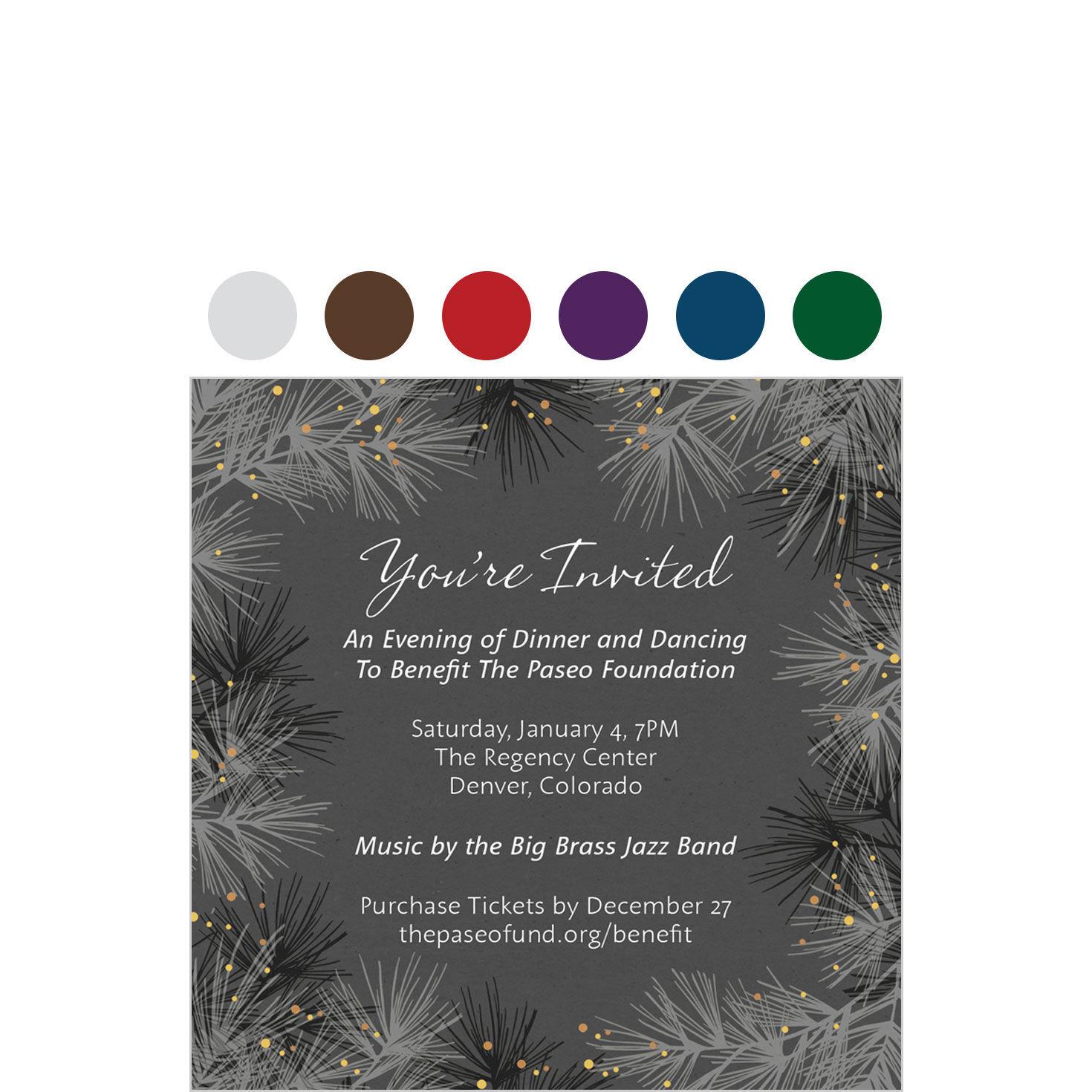 custom seasonal invitation cards