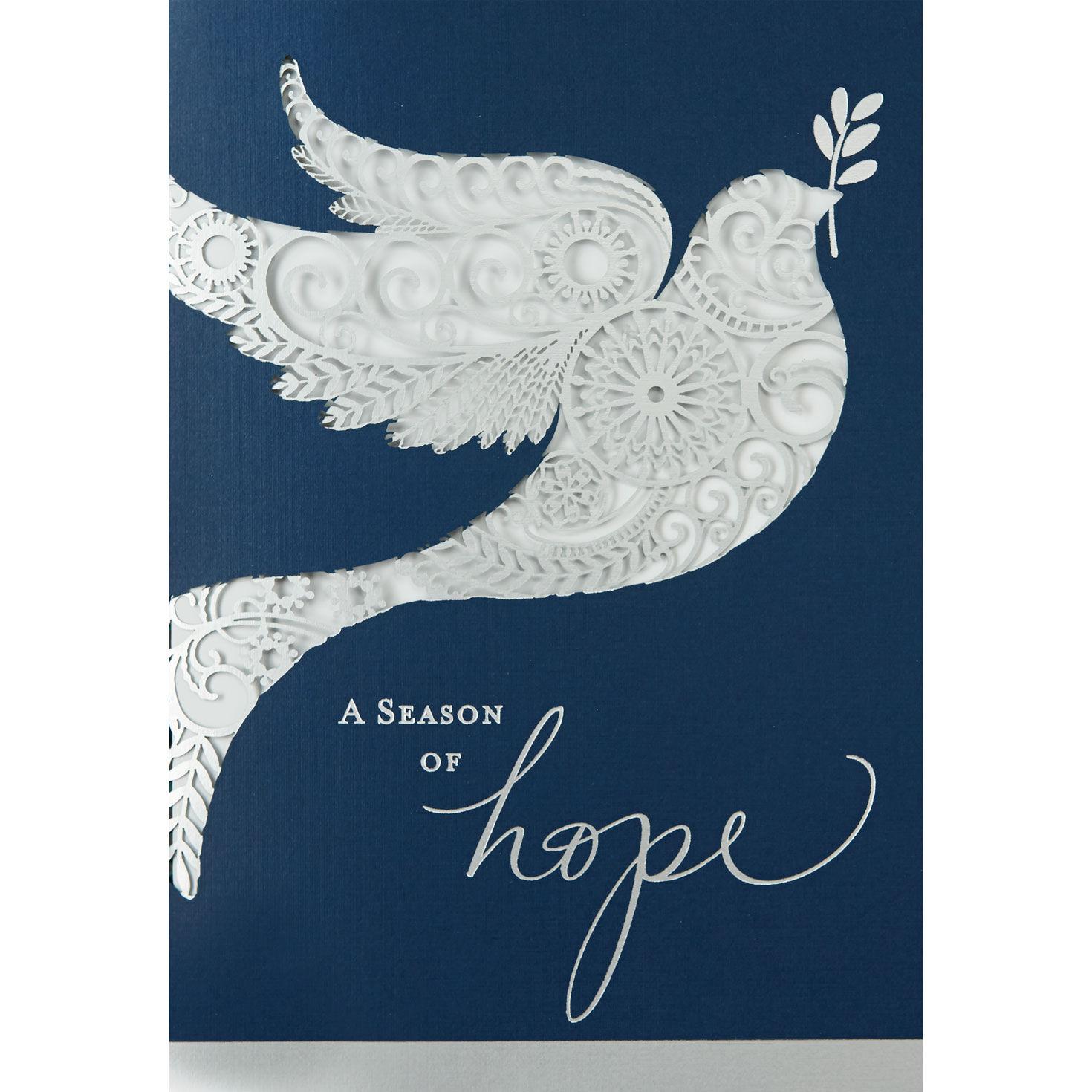 Laser Die Cut Dove Holiday Cards Hallmark Business