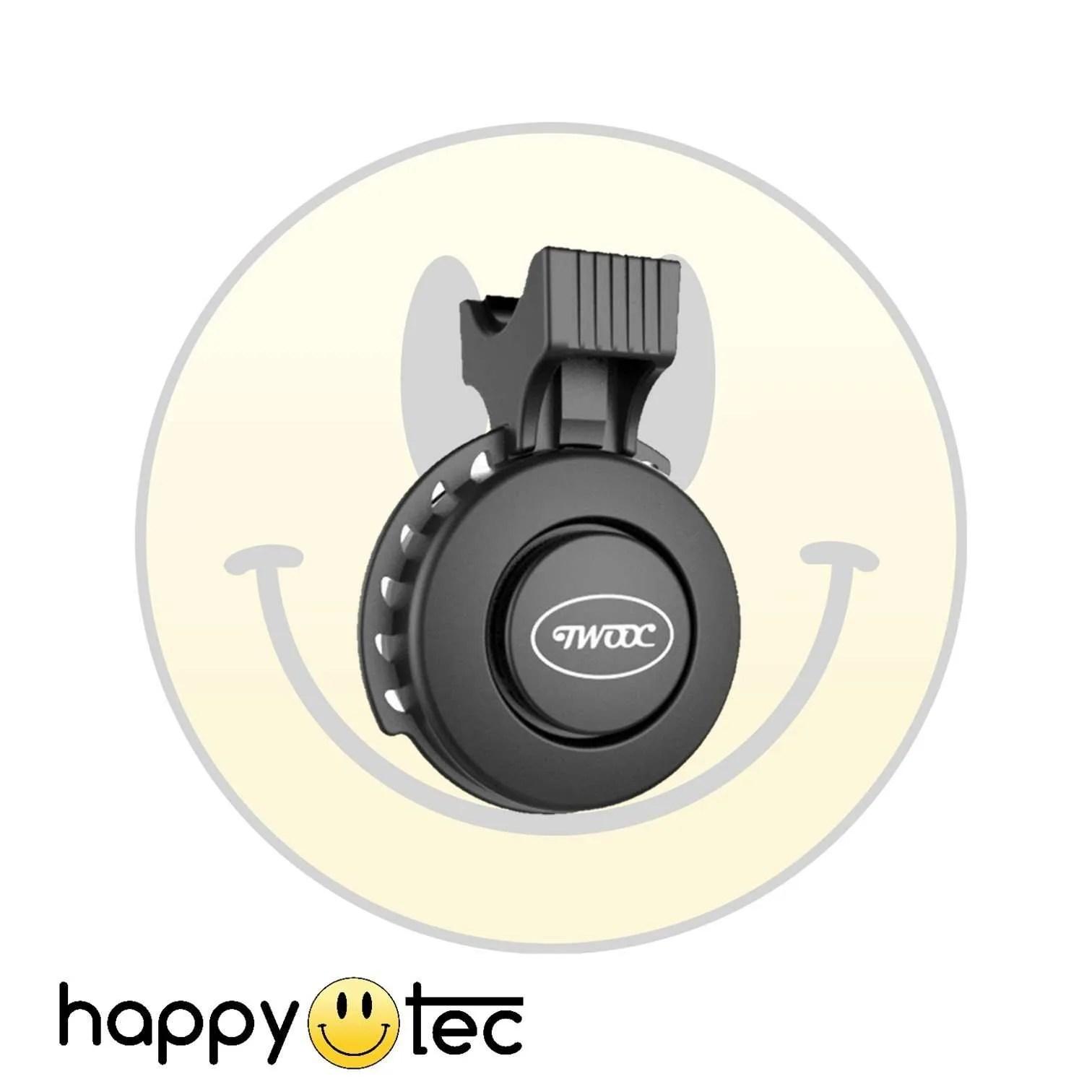 Accessori universali Campanello acustico elettronico Twooc Nero