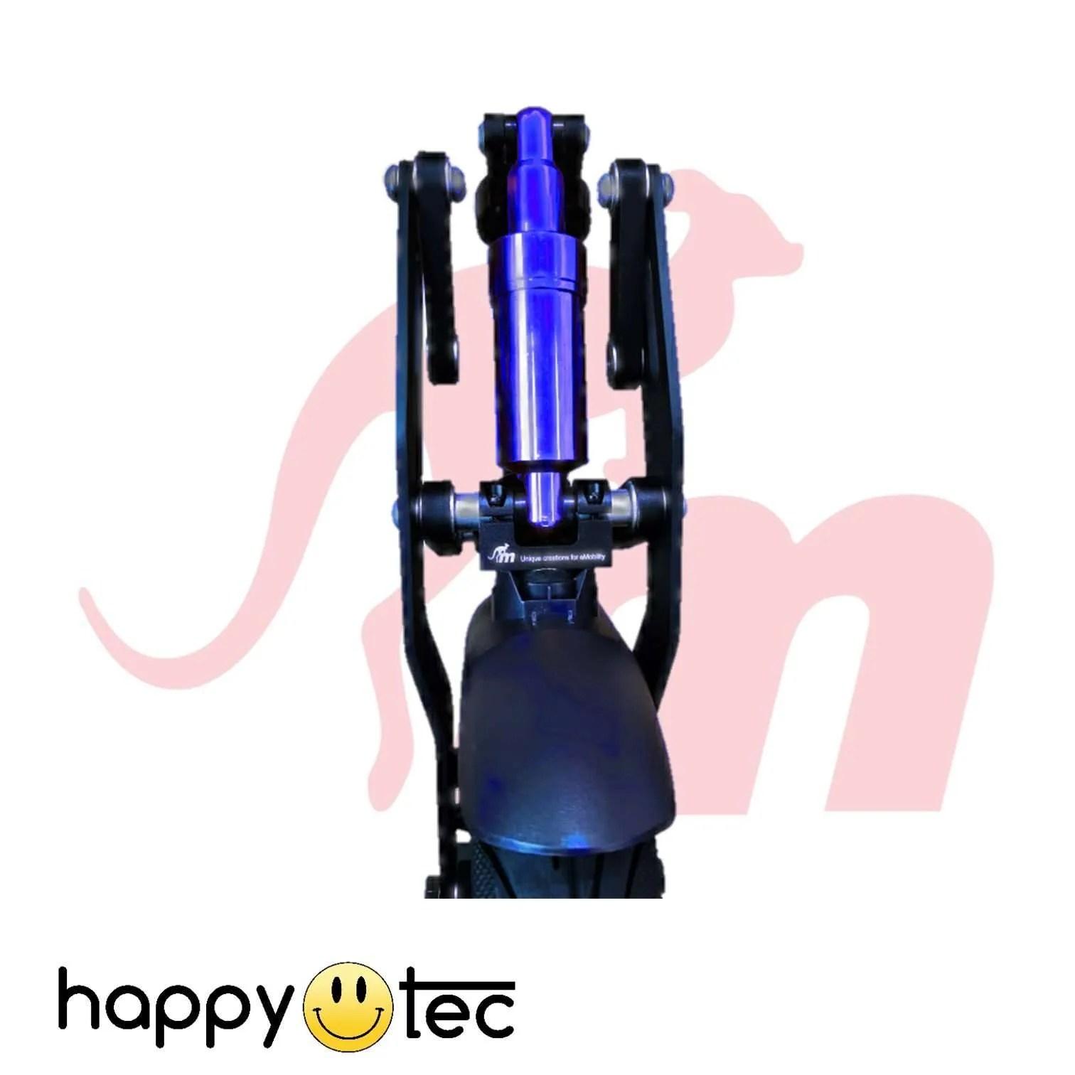 Ninebot-G30-Max-Ammortizzatore-anteriore-V3-by-Monorim-Nero-e-Blu ricambi accessori riparazione assistenza tecnica monopattini elettrici monorim