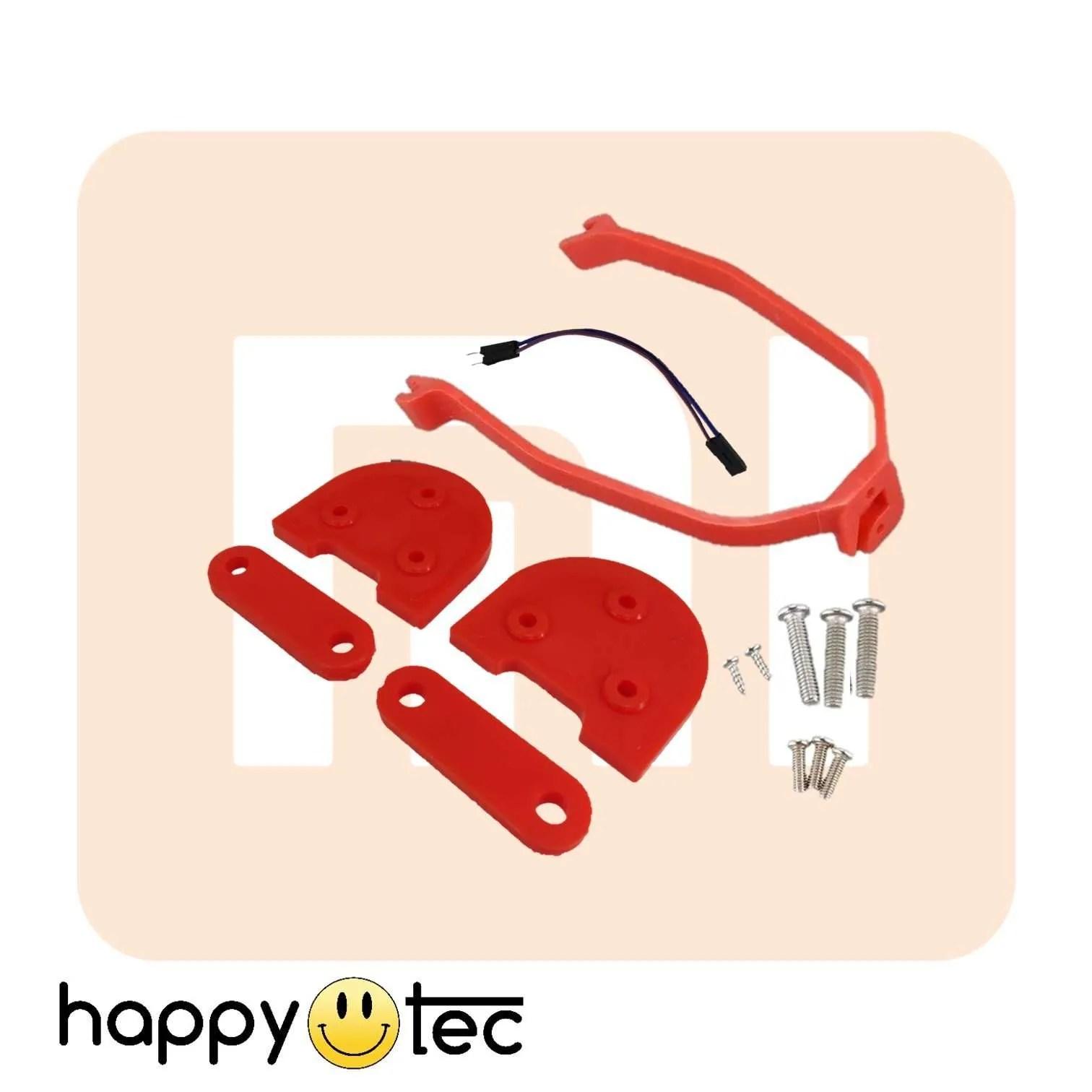 Accessori per Xiaomi Kit spessori + staffa parafango ruote 10 Rosso-Rosso