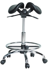Kanewell 901SRL Twin Ergonomic Saddle Seat with Foot Ring ...