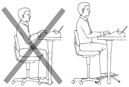 desk chair high office depot health by design your ideal height