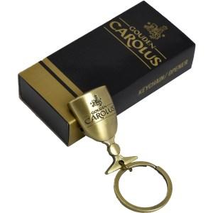 Flessenopener Gouden Carolus sleutelhanger