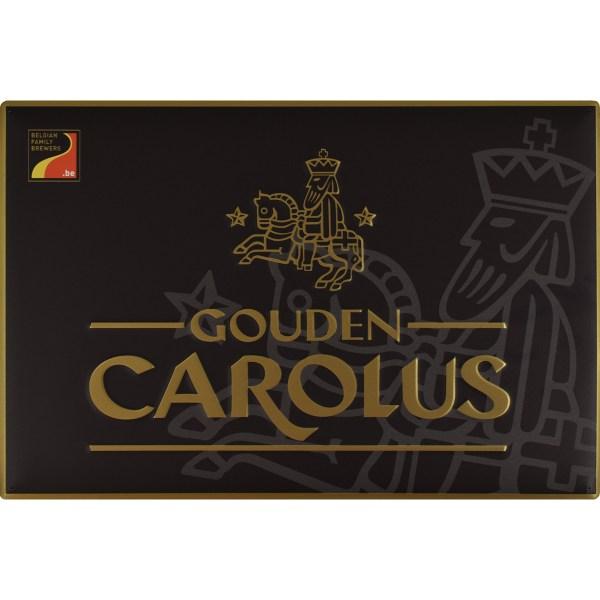 Muurbord Gouden Carolus zwart met goud logo