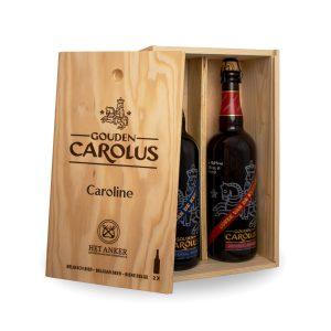 Gepersonaliseerde kist Gouden Carolus Imperial Dark + Blond 2x75cl – Binnenzijde