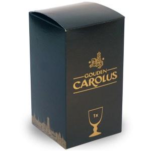 Glas Gouden Carolus 25cl – Geschenkverpakking