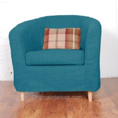 Teal Chair Covers Design Report Jerez Linen Look Tullsta Tub Cover Hipica Interiors