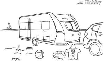 MALBLOCK WOHNWAGEN   Hobby Caravan