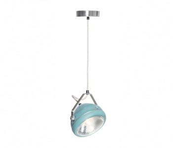 no 5 vintage ceiling light headlight aqua with linen cord