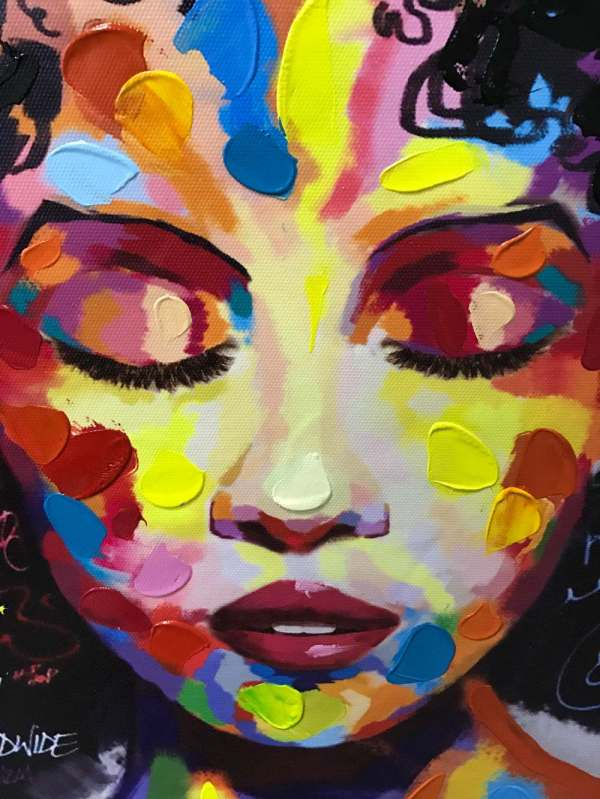 Modern Abstract Art Paintings African Woman