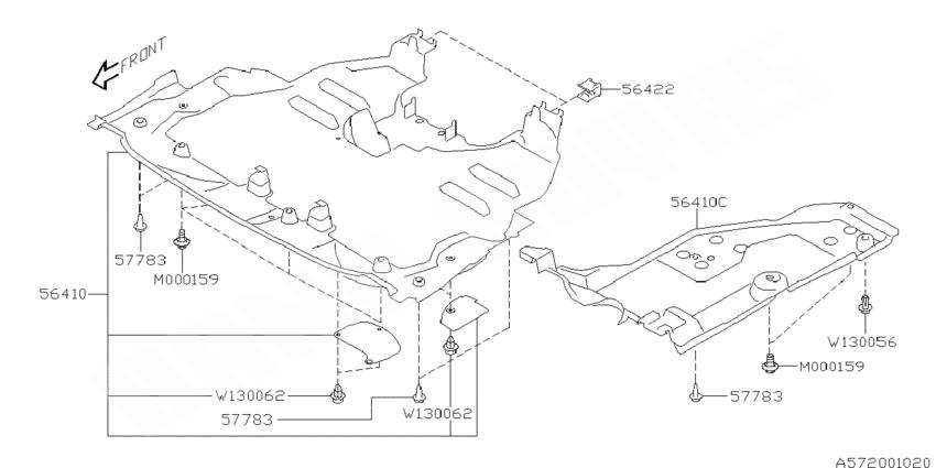 Shop Cache sous-moteur subaru wrx et sti 2001-2002