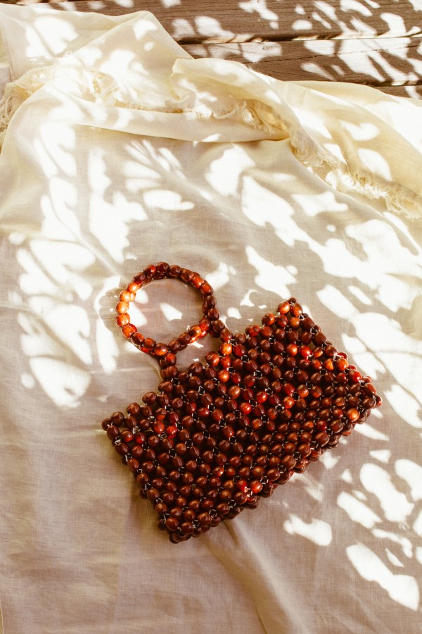 Husskie The Label wooden beaded bag