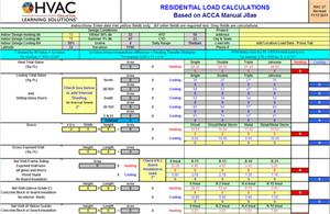 HVAC Learning Solutions Load Calculation Short Form