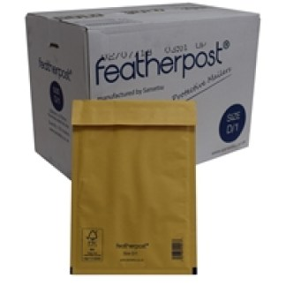 Featherpost Size D/1 Bubble Lined Mailers 200mm x 275mm Box of 100