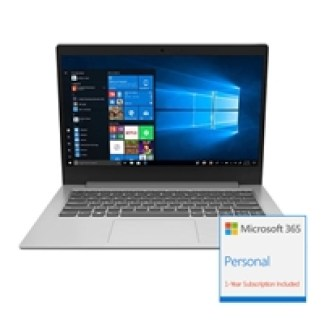 Lenovo Ideapad Slim 1-14AST-05 AMD A4-9120e 4GB RAM 64GB eMMC 14 inch Windows 10 S Laptop Platiunum Grey - includes 1 Year Microsoft Office 365 Personal