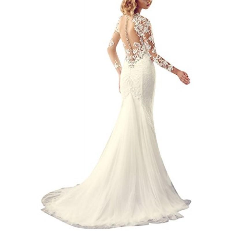 GEORGE BRIDE Sexy vestito chiaroveggente con maniche