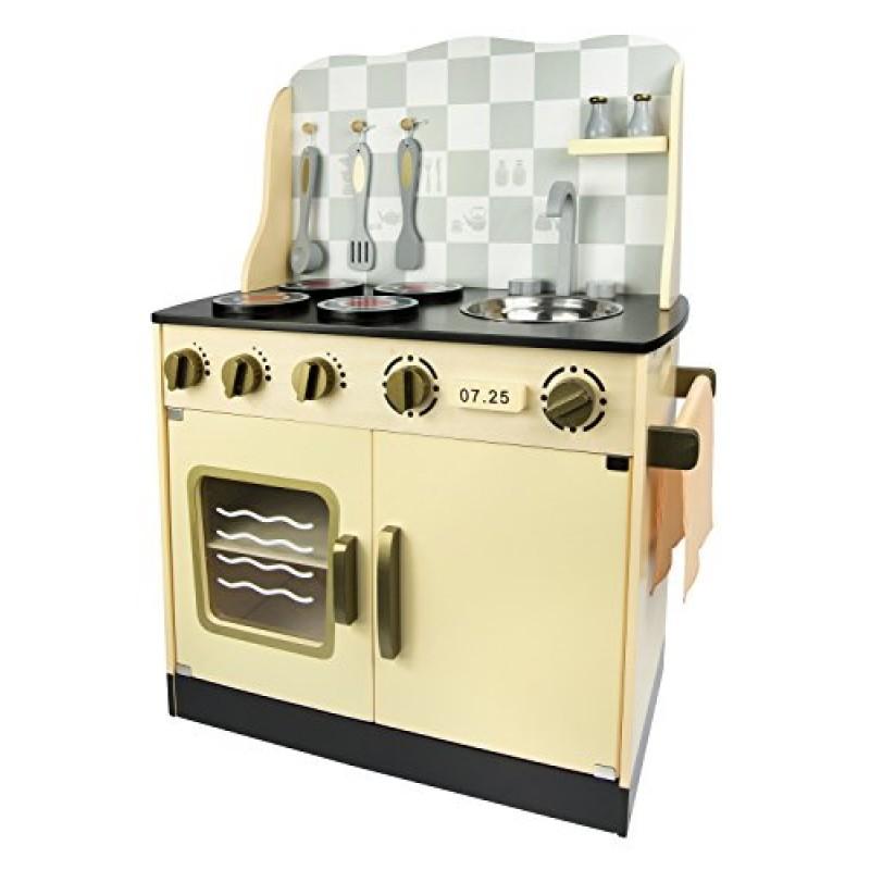 Leomark Cucina Vintage giocattolo in legno Cucina