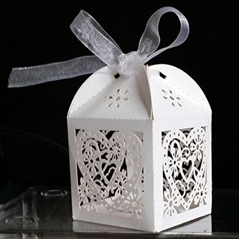 100 Scatole Portaconfetti per Feste Matrimonio Regalo Scatole