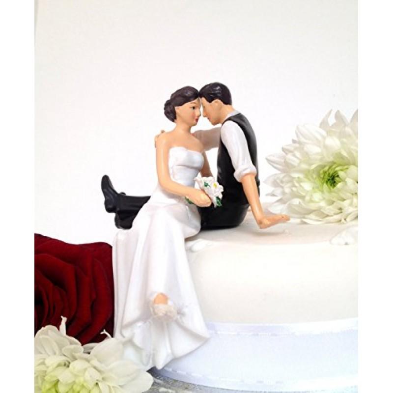 Statuetta di matrimonio sposi 2F seduti in piedi Decorazione per matrimoni CAKE TOPPER 10