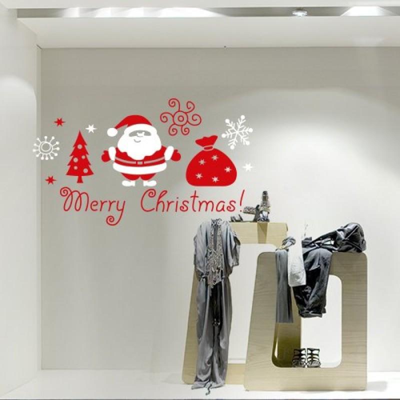 NT0191 Adesivi Murali Babbo Natale con sacco