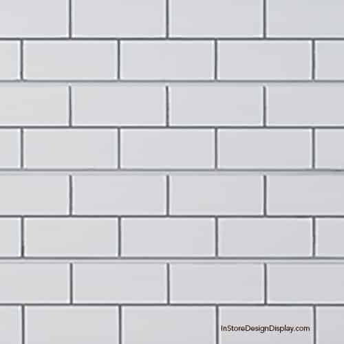subway tile slatwall