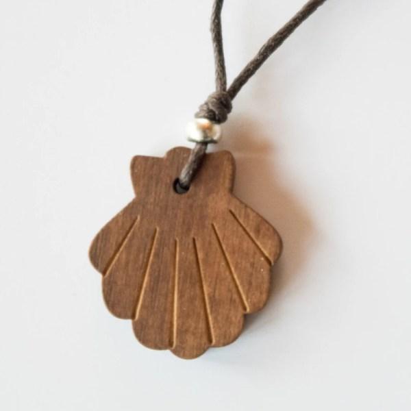 Anhänger Jakobsmuschel Holz
