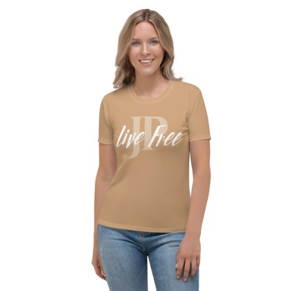 Dames T-shirt | Live Free – nude