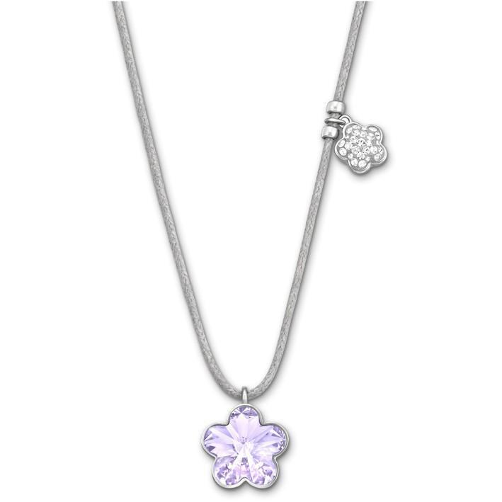 Violet Swarovski Flower Mini Pendant. Fashion Jewelry. 5020064