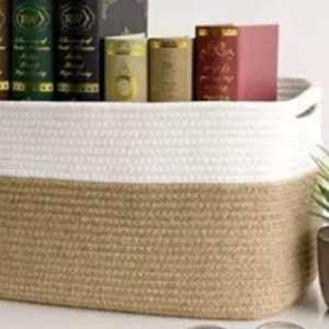 Rectangular Jute Storage basket
