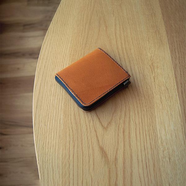 レザークラフト型紙_L字ファスナーの小型財布
