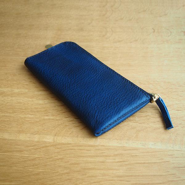 レザークラフト型紙_L字ファスナーの長財布